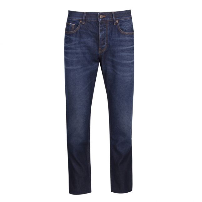 Casual Mens Dark Blue Taber BC-S Tapered Jeans