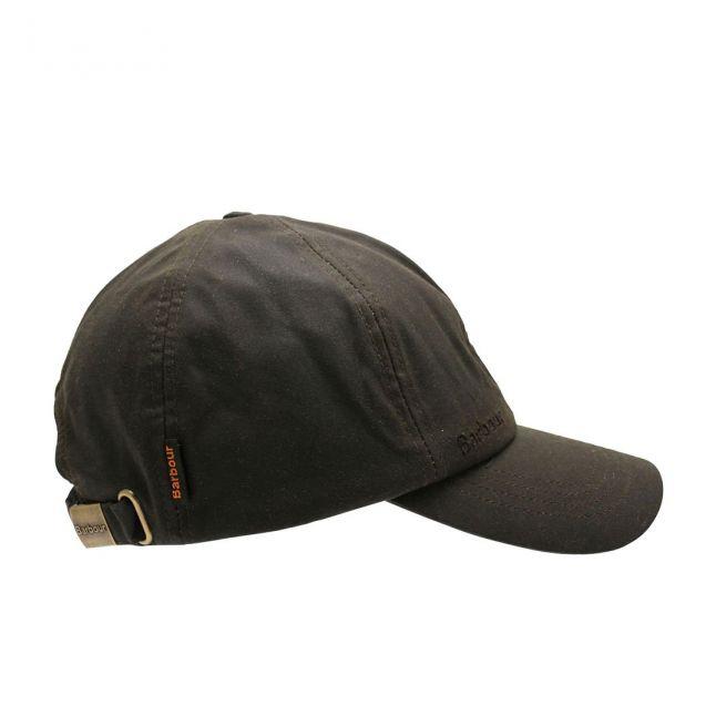 Mens Olive Wax Sports Cap