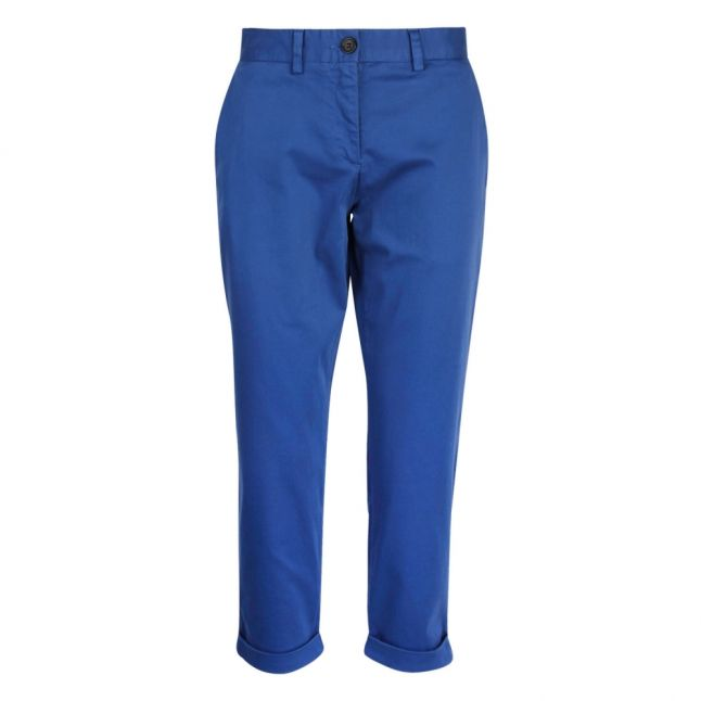 Womens Cobalt Blue Boyfriend Fit Trousers