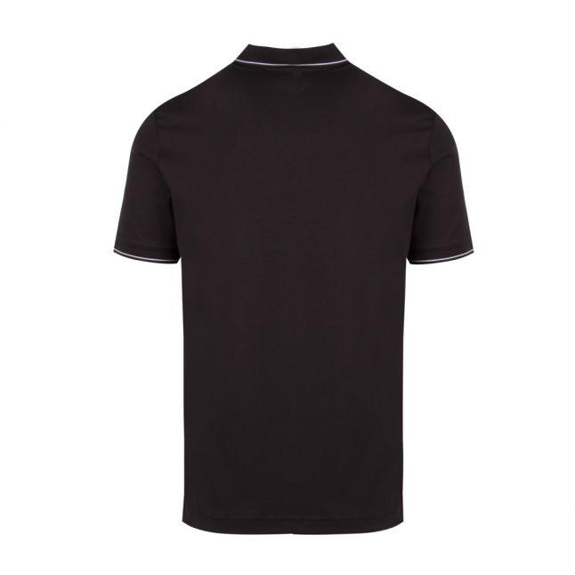 Mens Black Soft Tipped S/s Polo Shirt