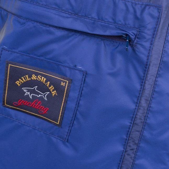 Paul & Shark Mens Navy Woven Shark Fit Jacket