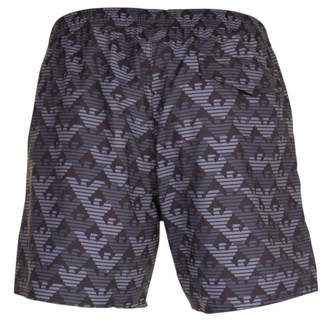 Mens Black & Grey Sea World Eagle Swim Shorts