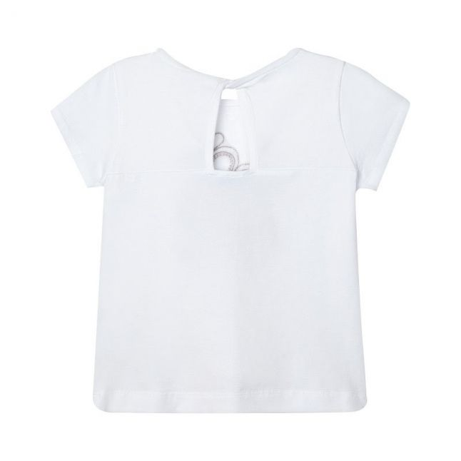 Girls White Sandals S/s T Shirt