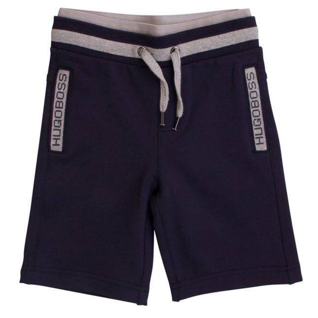 Boss Boys Navy Bermuda Sweat Shorts