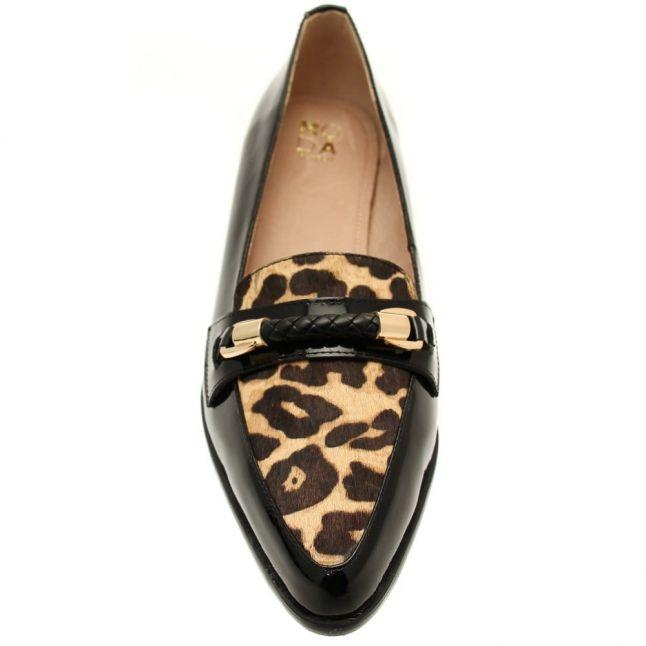 Womens Black Francia Leopard Shoes