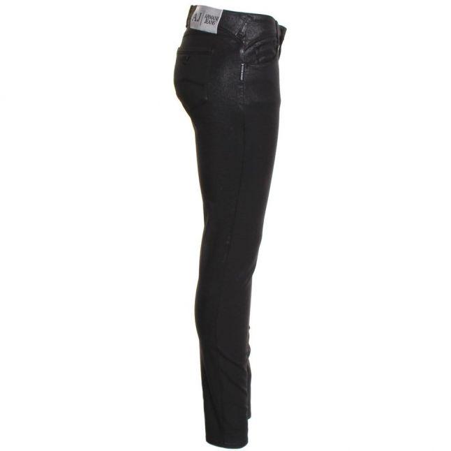 Womens Black J28 Coated Skinny Fit Jeans