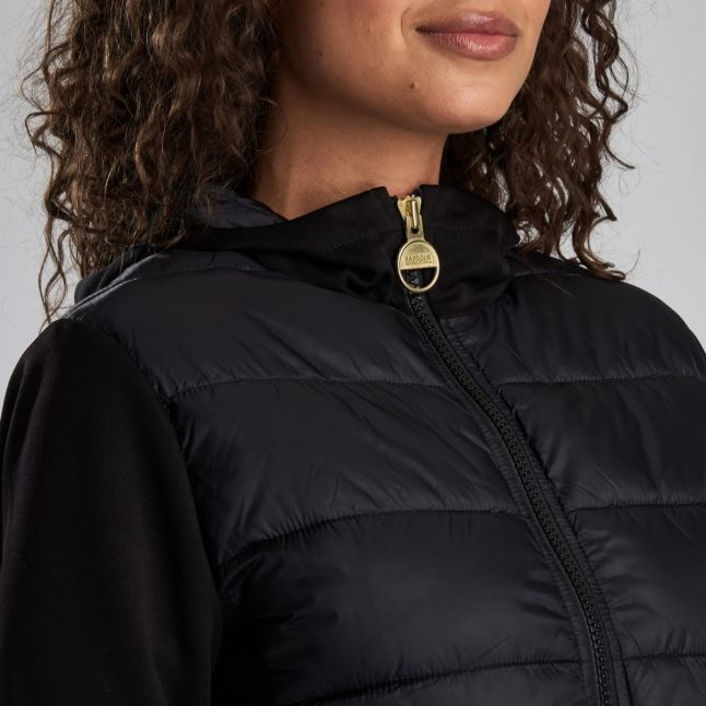 Womens Black Ventax Quilted Sweat Jacket