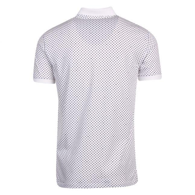 Mens White Eagle Spot S/s Polo Shirt