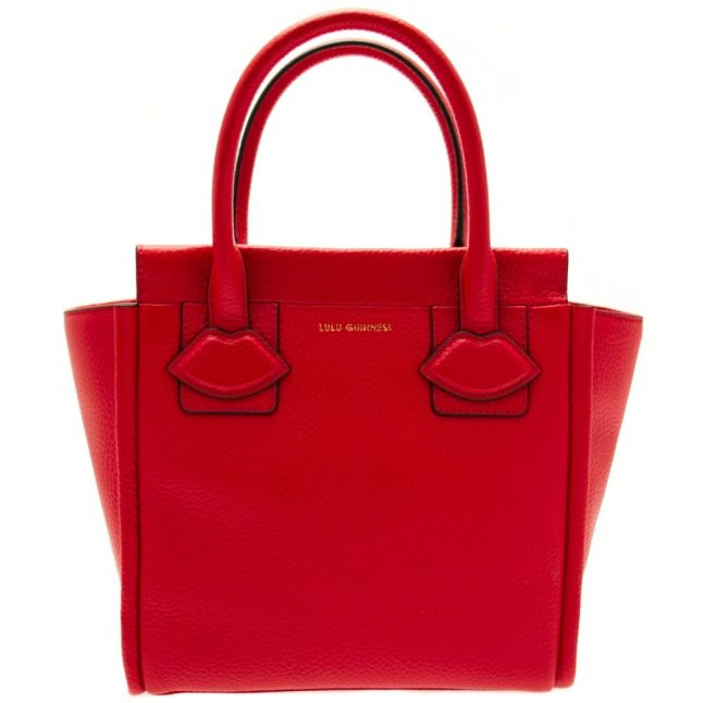 Womens Red Lyra Leather Small Bag