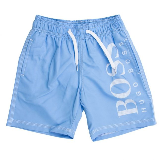 Boss Boys Blue Big Logo Swim Shorts