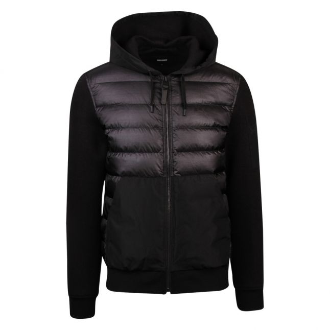 Mens Black Will Padded Hooded Jacket