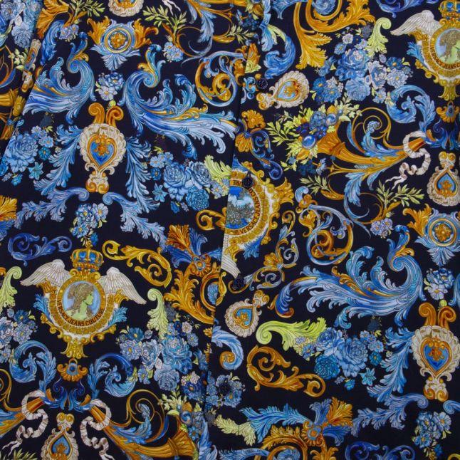 Mens Blue Versailles Regular Fit L/s Shirt