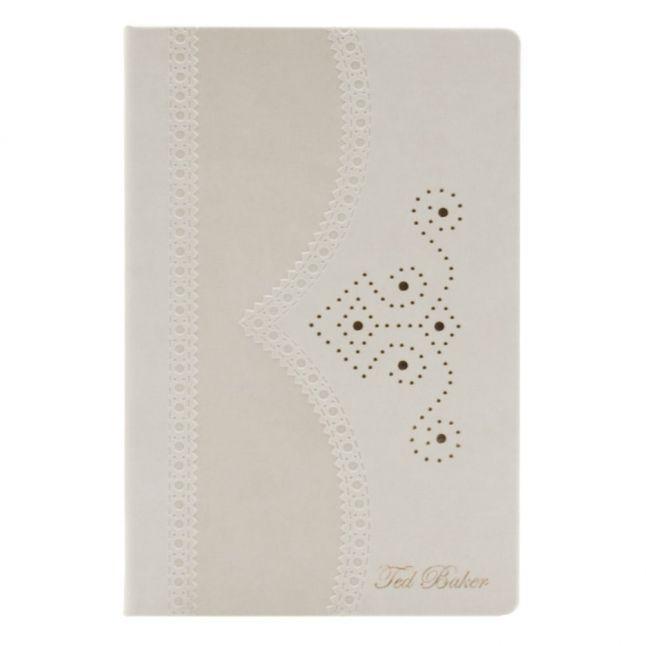 Womens Nude A5 Medium Brogue Notebook