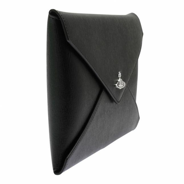 Womens Black Bella Pouch Clutch Bag