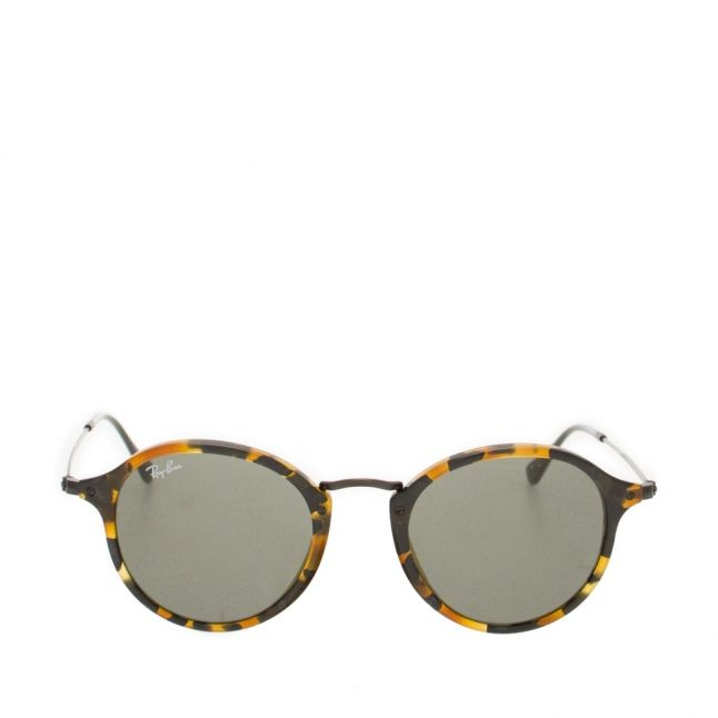 Spot Black Havana RB2447 Round Fleck Sunglasses