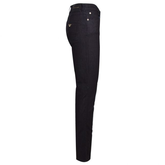 Womens Dark Blue J18 High Rise Slim Fit Jeans