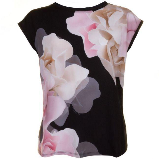 Womens Black Bellsi Porcelain Rose S/s Tee Shirt