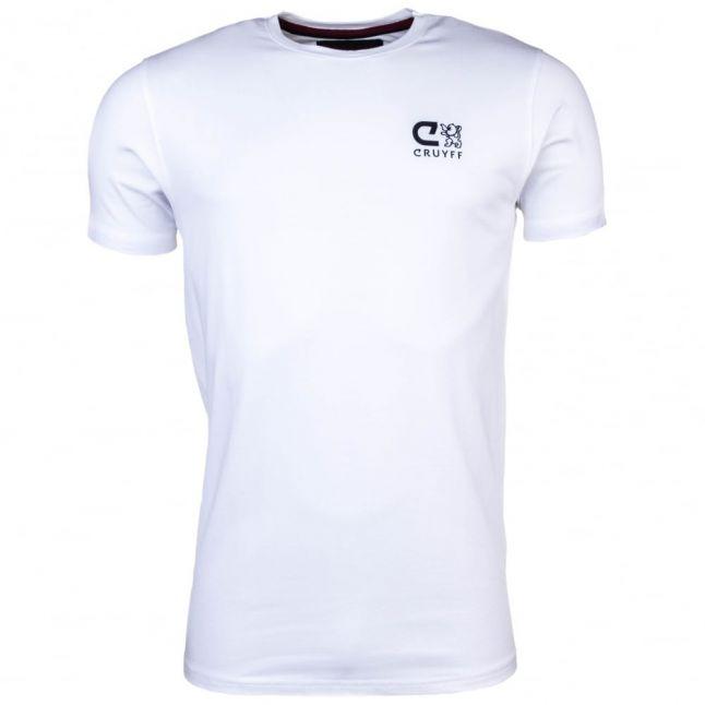 Mens White Daley 3 S/s Tee Shirt