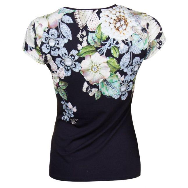 Womens Black Veeni Gem Gardens S/s Tee Shirt