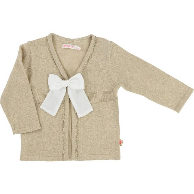Baby Gold Bow Cardigan