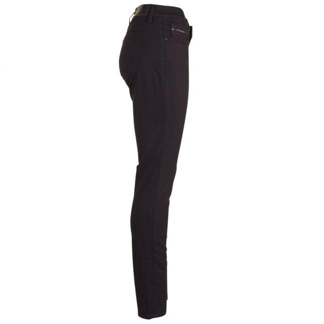Womens Black Mid Rise Skinny Jeans