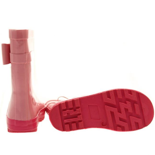 Girls Plain Pink Rain 1 Wellington Boots (24-33)