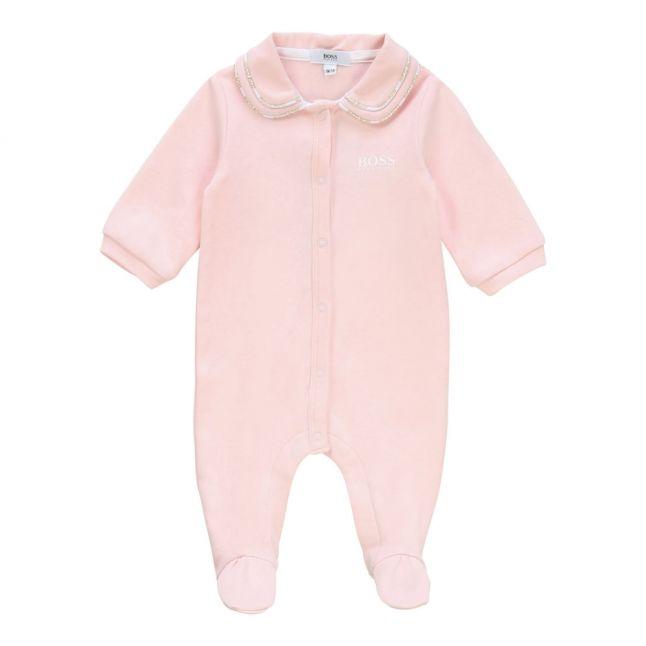 Baby Pink Logo Trim Babygrow