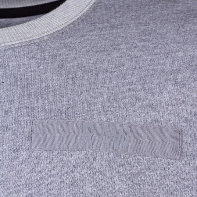 Mens Grey Heather Core Regular Crew Sweat Top