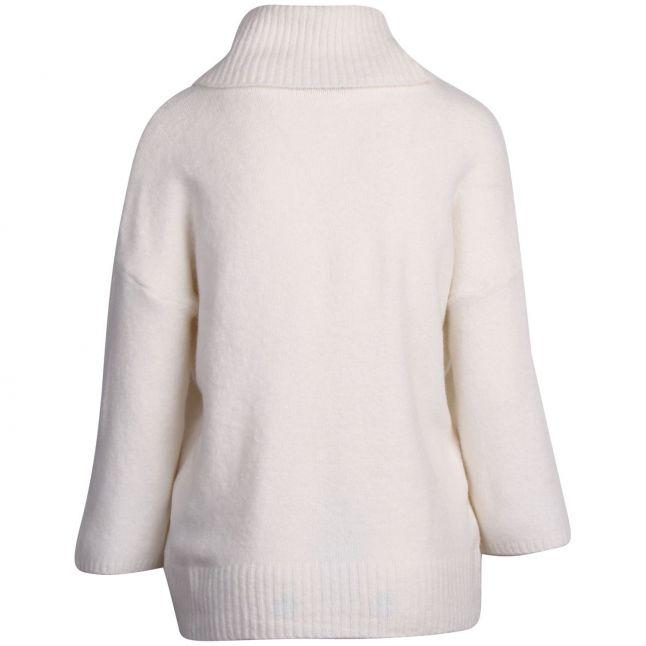 Womens Whisper White Viflinka Cowl Neck Knitted Jumper