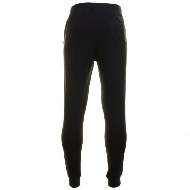 Mens Black Training Logo Series Cuffed Track Pants