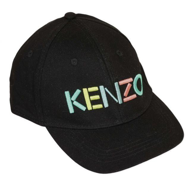 Boys Black Multicolour Logo Cap