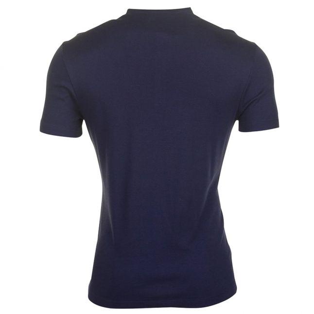 Mens Navy Grandad Regular Fit S/s Tee Shirt