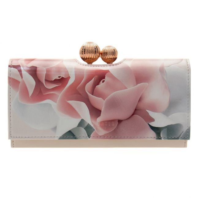 Womens Nude Pink Idella Porcelain Rose Printed Matinee Purse