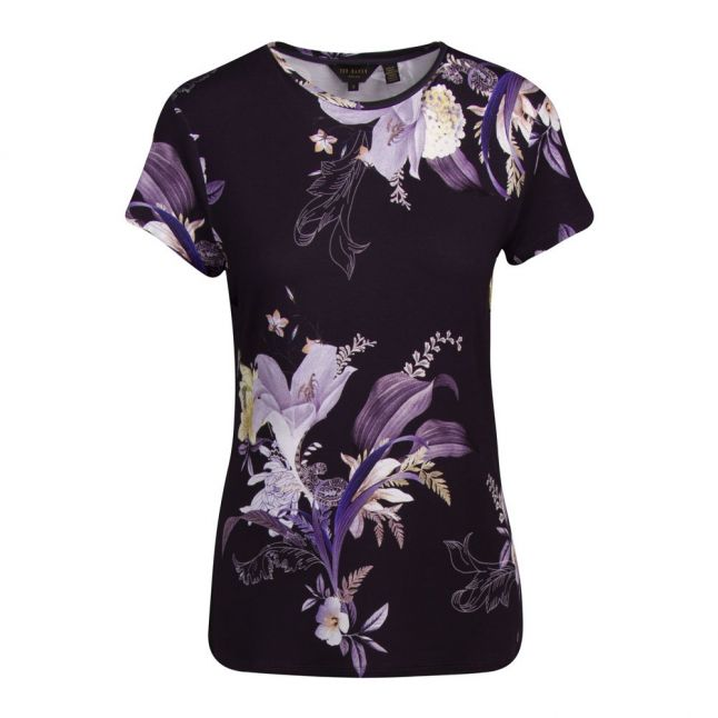 Womens Navy Dancie Decadence Print S/s T Shirt
