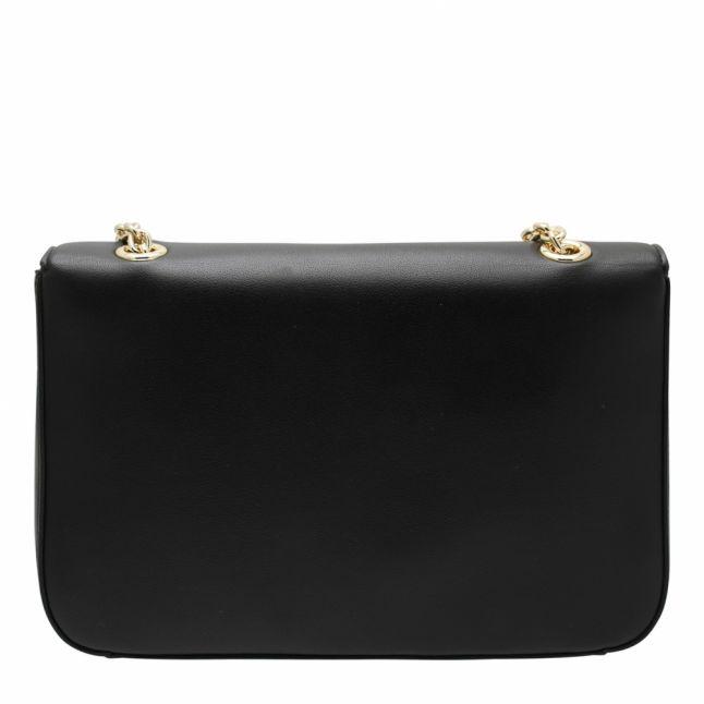 Womens Black Smooth Logo Shoulder Bag