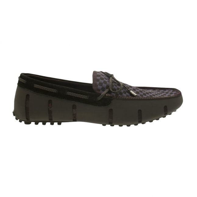Mens Black Lace Loafer Woven