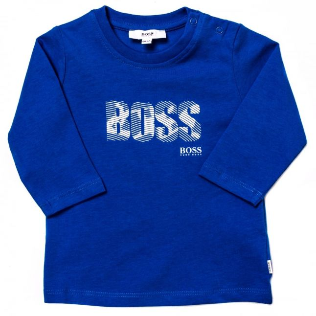 Baby Turquoise Branded L/s Tee Shirt