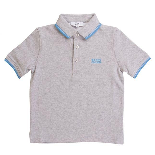Boss Boys Grey Tipped S/s Polo Shirt