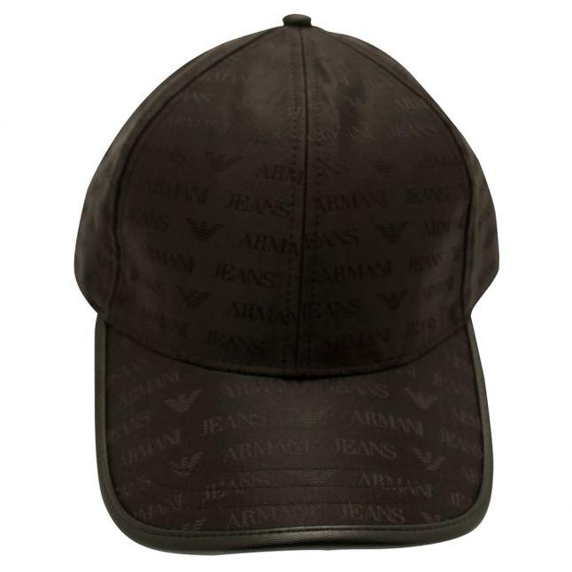 Mens Black All Over Logo Cap