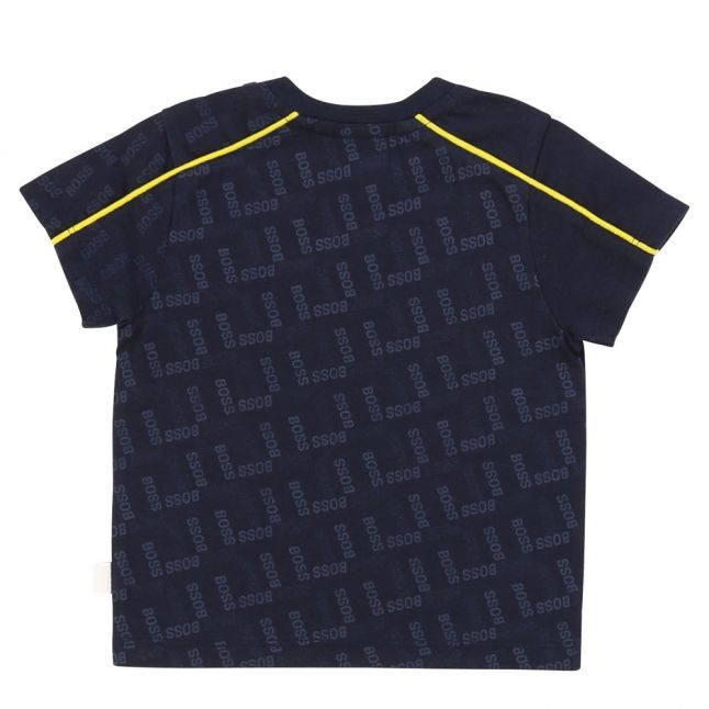 Toddler Navy Tonal Logo Detail S/s T Shirt