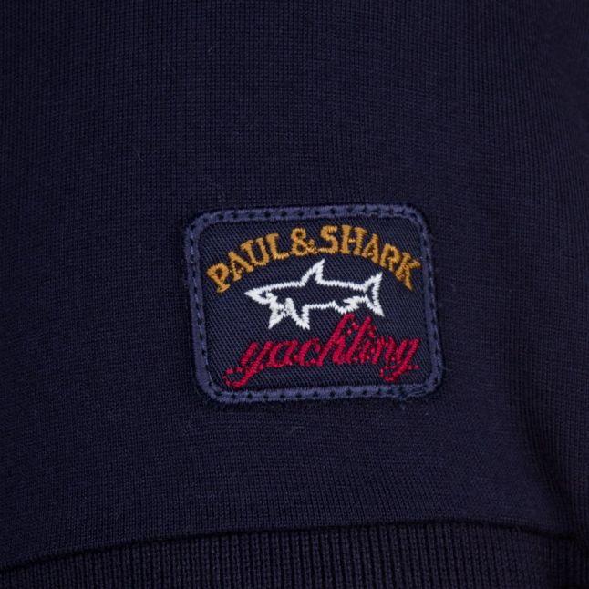 Paul & Shark Mens Navy Tonal Logo Shark Fit S/s Tee Shirt