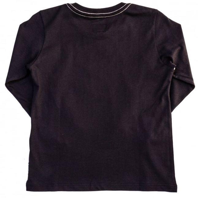 Boys Navy Large Eagle Logo L/s Tee Shirt
