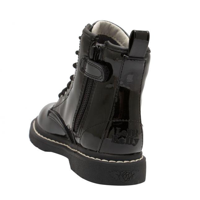 Girls Black Patent Sofia Lace Up Boots (26-39)