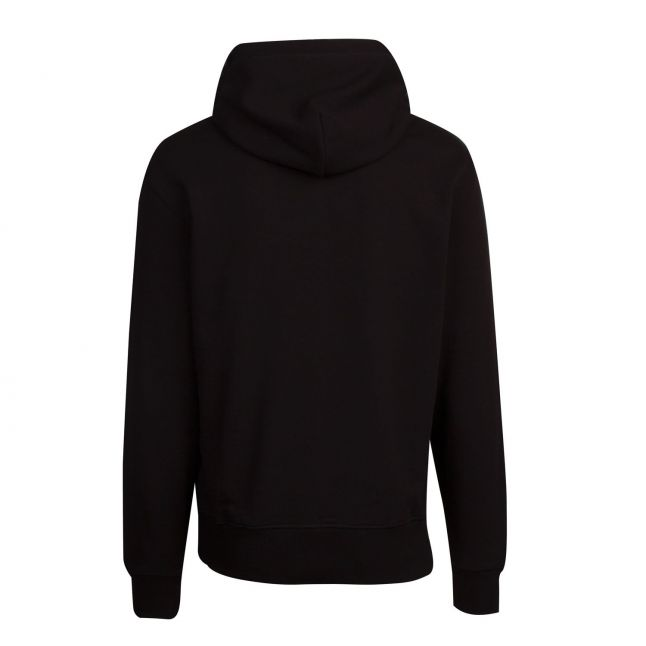 Mens Black Big Logo Hooded Sweat Top