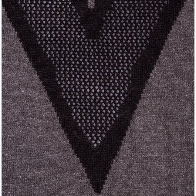 Womens Medium Grey Melange Yasmari Knitted Jumper