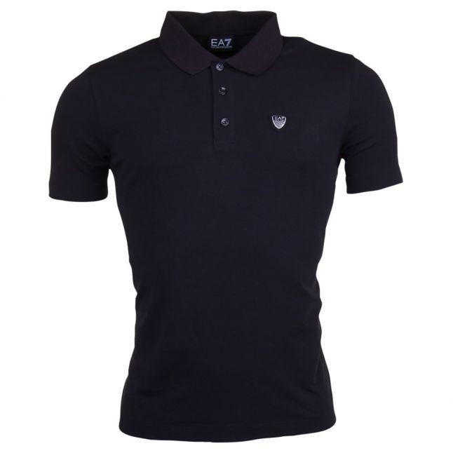 Mens Black Train Core Shield S/s Polo Shirt