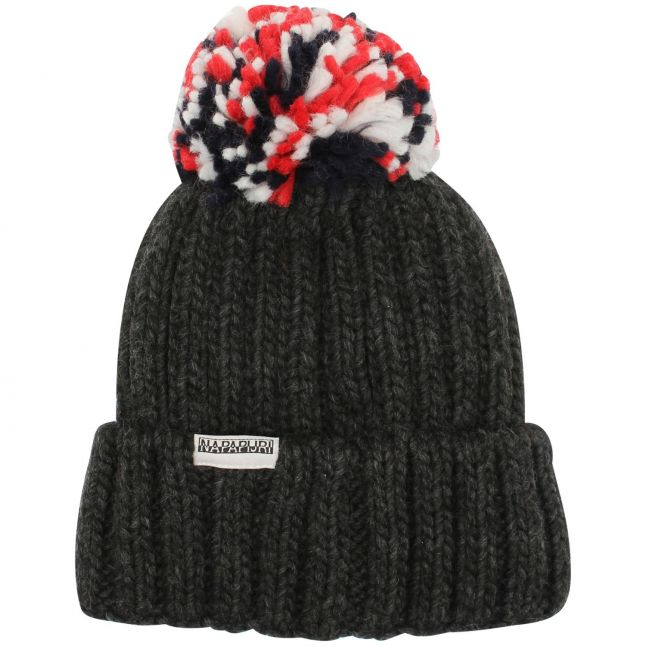 Kids Dark Grey Melange Semiury 4 Bobble Hat