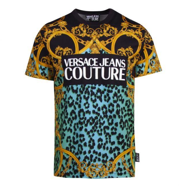 Mens Pure Mint Baroque Animal Print S/s T Shirt