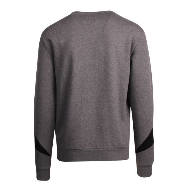 Mens Grey/Black Colour Block Crew Sweat Top