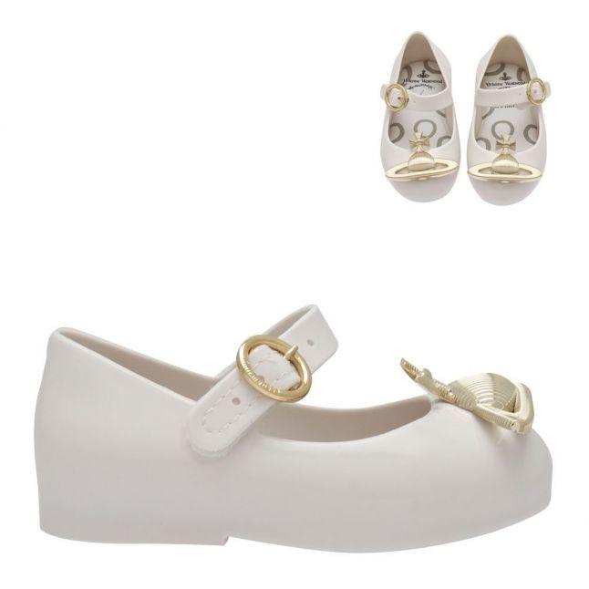 Vivienne Westwood Girls White Orb Mini Sweet Love Shoes (4-10)